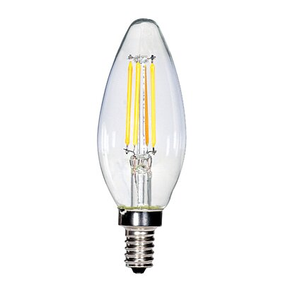 4W E12 Candelabra LED Vintage Filament Light Bulb