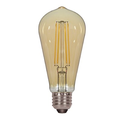 4.5W Amber E26 Medium LED Vintage Filament Light Bulb
