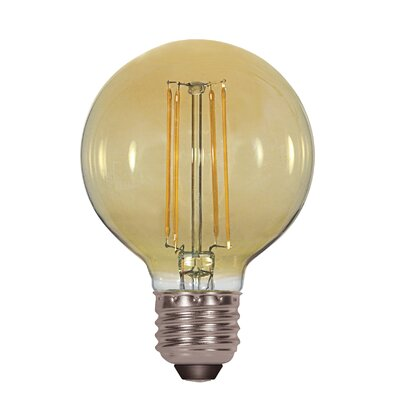 5W Amber E26 Medium LED Vintage Filament Light Bulb