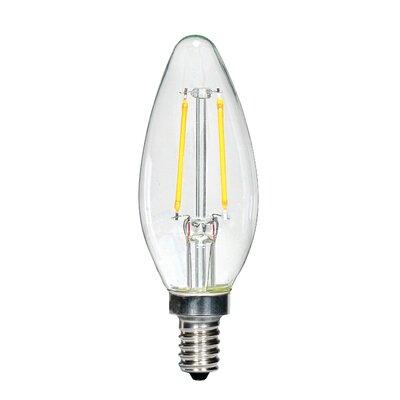 2.5W E12 Candelabra LED Vintage Filament Light Bulb