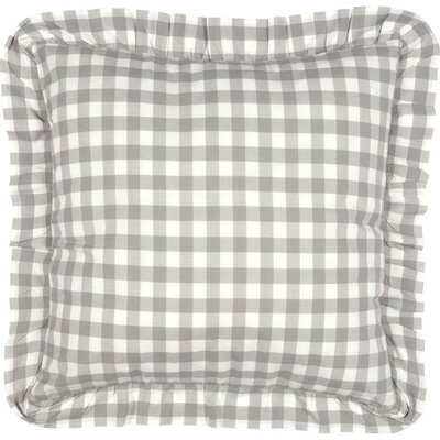 Caulder Buffalo Check Fabric Sham Color: Gray