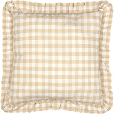 Caulder Buffalo Check Fabric Sham Color: Tan