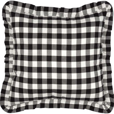 Caulder Buffalo Check 100% Cotton Throw Pillow Color: Black
