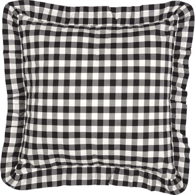 Caulder Buffalo Check Fabric Sham Color: Black