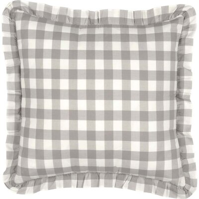 Caulder Buffalo Check 100% Cotton Throw Pillow Color: Gray