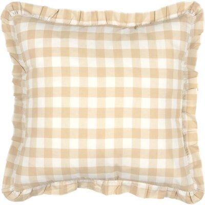 Caulder Buffalo Check 100% Cotton Throw Pillow Color: Tan