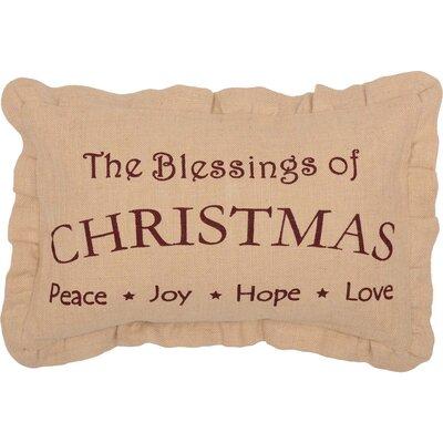 Alongi Christmas Blessings Lumbar Pillow