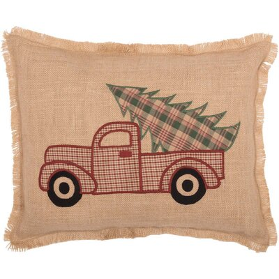 Leonidas Applique Truck Lumbar Pillow