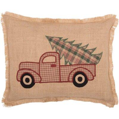 Leonidas Applique Truck Lumbar Pillow