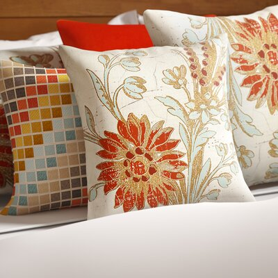 Scullin Printed Throw Pillow Size: 16 H x 16 W x 4 D