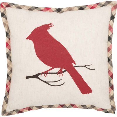 Fosse Cardinal 100% Cotton Throw Pillow