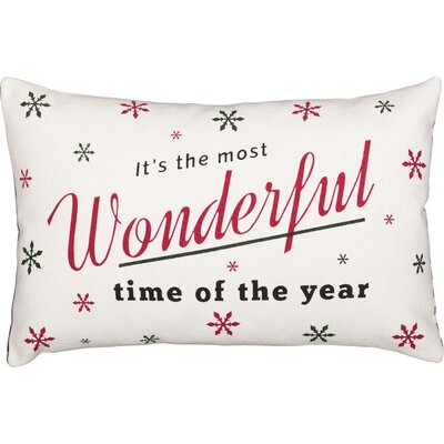 Foskey Wonderful Time 100% Cotton Lumba Pillow