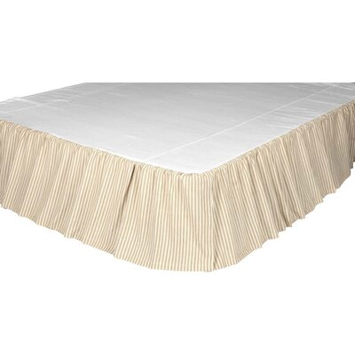 Caudle Ticking Stripe Bed Skirt Size: Queen
