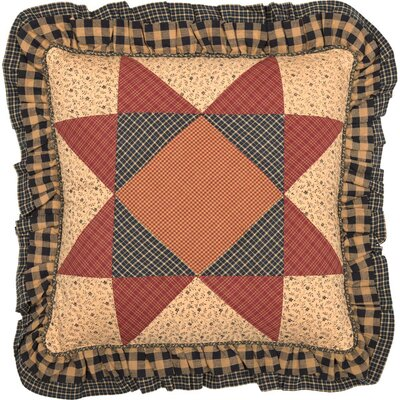 Caudell Patchwork 100% Cotton Throw Pillow