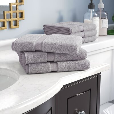 Patric 6 Pieces Hand Towel Set Color: Chrome