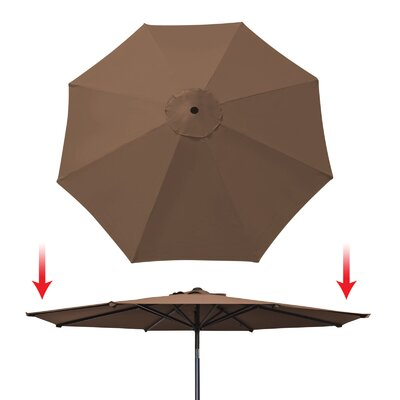 Umbrella Canopy Rib Patio Top Outdoor Replacement Cover UC-13-BRW