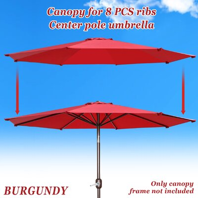 Umbrella Canopy Rib Patio Top Outdoor Replacement Cover UC-14-BGD