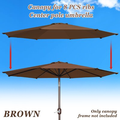 Umbrella Canopy Rib Patio Top Outdoor Replacement Cover UC-14-BRW