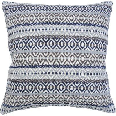 Serape Stripe 100% Cotton Throw Pillow Color: Cobalt