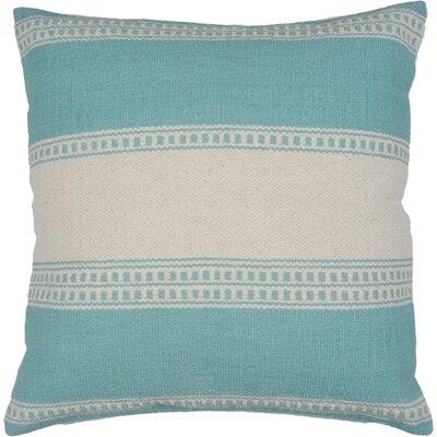 Gaucho Stripe Cotton Throw Pillow Color: Aqua