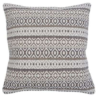 Serape Stripe 100% Cotton Throw Pillow Color: Flax