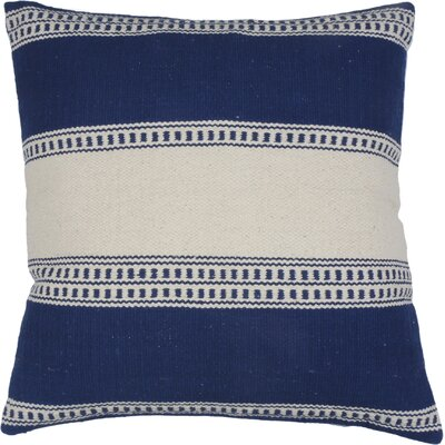 Gaucho Stripe Cotton Throw Pillow Color: Cobalt