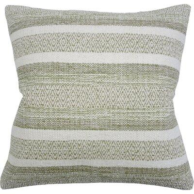 Caf� Stripe Cotton Throw Pillow Color: Avocado