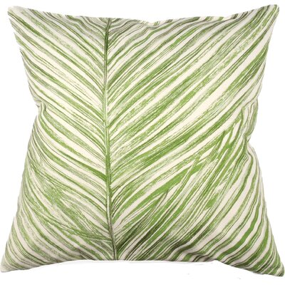 Palm Frond 100% Cotton Throw Pillow Color: Fern