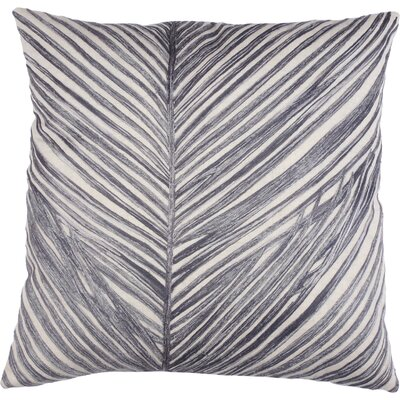 Palm Frond 100% Cotton Throw Pillow Color: Gray