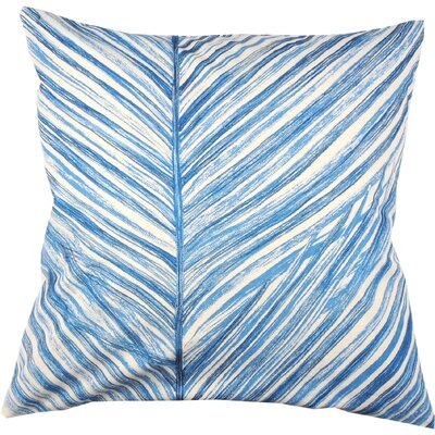 Palm Frond 100% Cotton Throw Pillow Color: Periwinkle