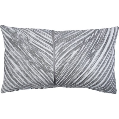 Palm Frond 100% Cotton Lumbar Pillow Color: Gray