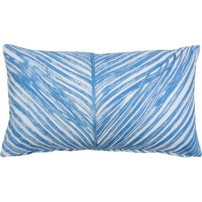 Palm Frond 100% Cotton Lumbar Pillow Color: Periwinkle