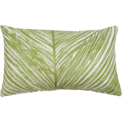 Palm Frond 100% Cotton Lumbar Pillow Color: Fern