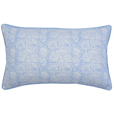 Boho Diamond Lumbar Pillow Color: Periwinkle