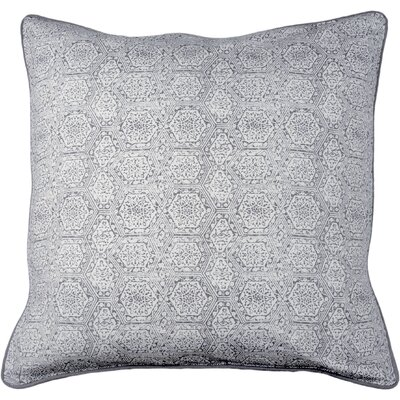 Boho Diamond Throw Pillow Color: Gray