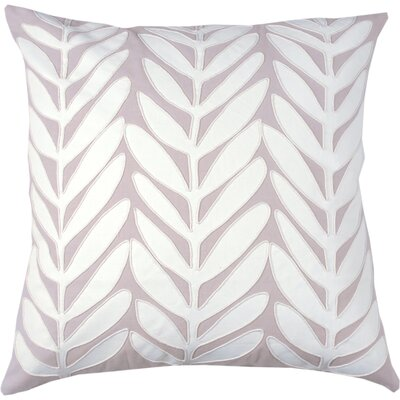 Laurel Leaf 100% Cotton Throw Pillow Color: Cream