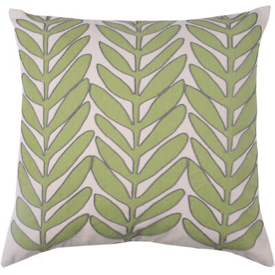 Laurel Leaf 100% Cotton Throw Pillow Color: Avocado