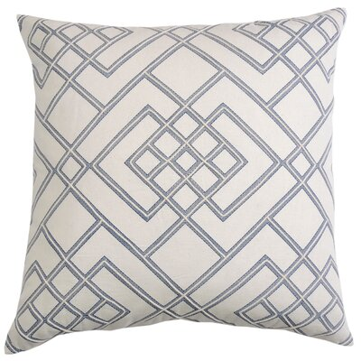 Double Diamond 100% Cotton Thow Pillow Color: Cobalt