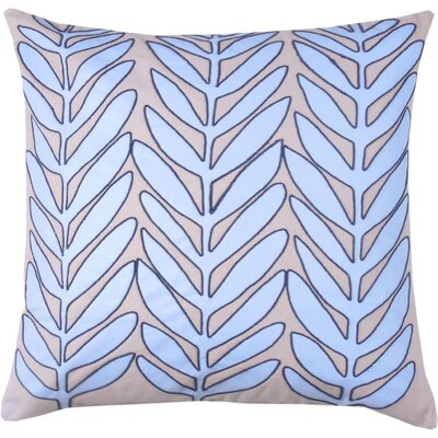 Laurel Leaf 100% Cotton Throw Pillow Color: Periwinkle