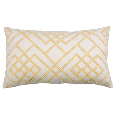 Double Diamond 100% Cotton Lumbar Pillow Color: Bamboo