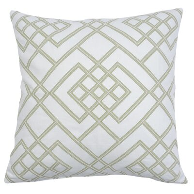 Double Diamond 100% Cotton Thow Pillow Color: Fern