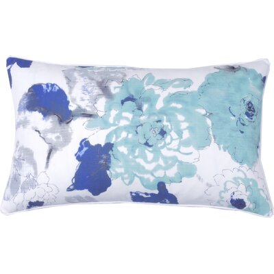 Floral Watercolor Lumabr Pillow Color: Aqua
