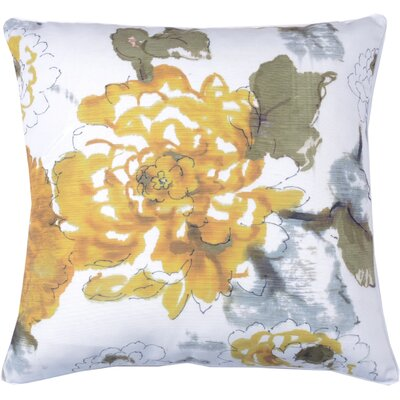 Floral Watercolor Throw Pillow Color: Bamboo