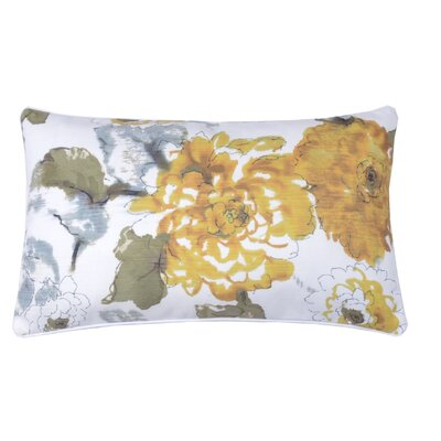 Floral Watercolor Lumabr Pillow Color: Bamboo