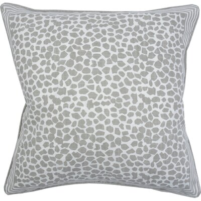 Giraffe Throw Pillow Color: Pebble