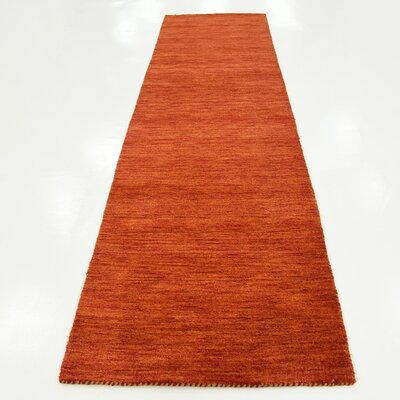 Taul Hand-Knotted Wool Terracotta Area Rug Rug Size: 2 7 x 9 10