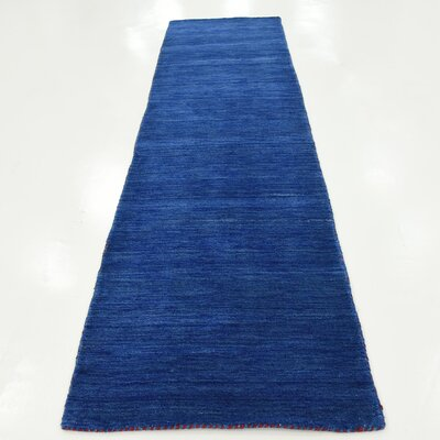 Taul Hand-Knotted Wool Blue Area Rug Rug Size: 2 7 x 9 10