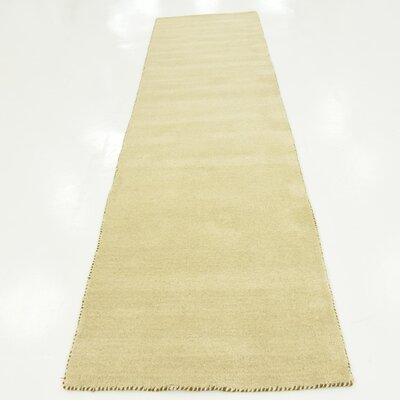 Taul Hand-Knotted Wool Beige Area Rug Rug Size: 2 7 x 9 10