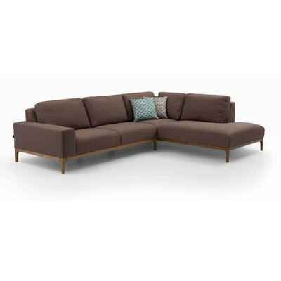 Charron Corner Relax Sectional Upholstery: Gray