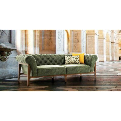 Chidester Wooden Sofa Upholstery: Green